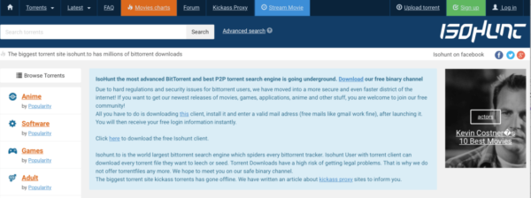 IsoHunt siti per torrent