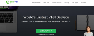 Pure VPN connessione VPN e web server proxy