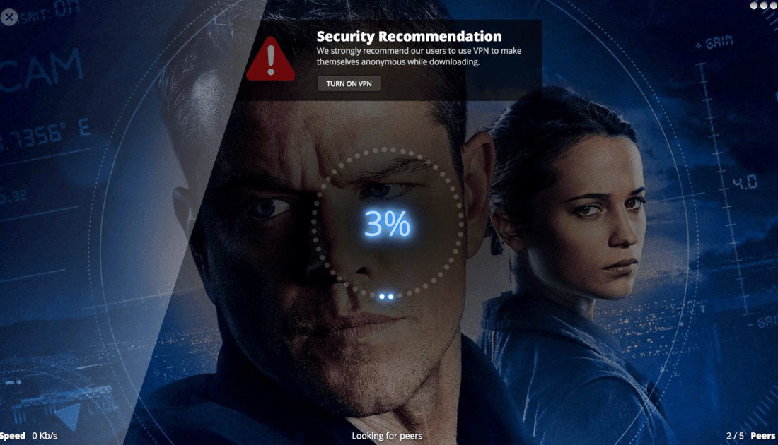 Popcorn Time Online per vedere film e serie tv in streaming