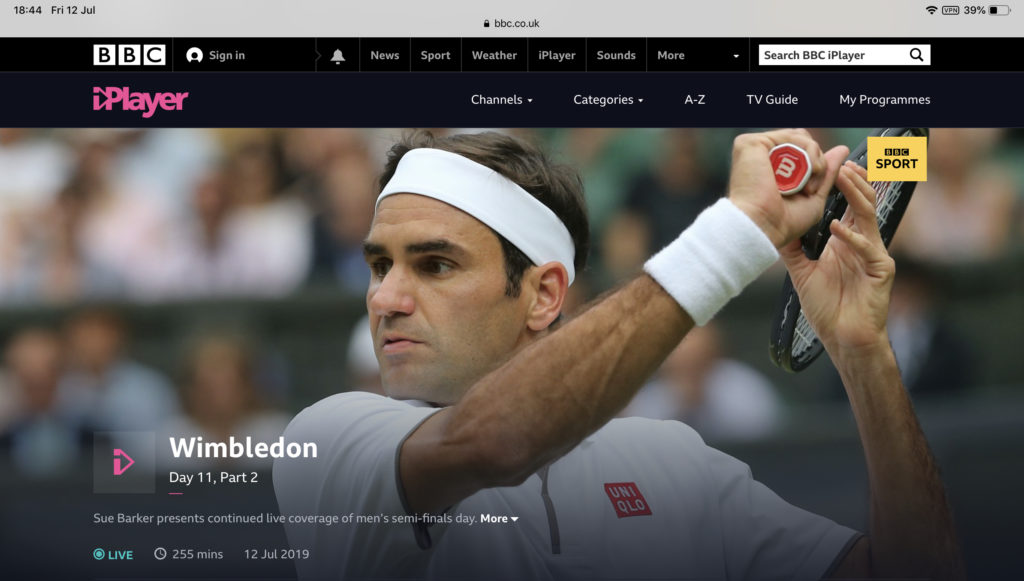 Wimbledon Streaming BBC iPlayer